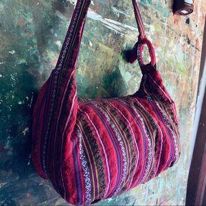 Large Bohemian Shoulder Bag Embroidered Cloth Bag